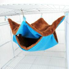 Soft Double Layer 2 Tiers Hanging Hut Cage Parrot Hammock Tent Hamster Bed