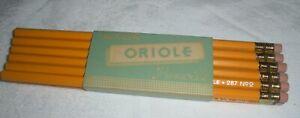 Vintage Pencils One Dozen Dixon No. 287 Oriole No.2 Pencils Unsharpened