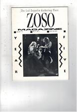 Rare Vintage Led Zeppelin Zoso Magazine January 1991 Vol V No I Ms1896