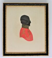 ANTIQUE SILHOUETTE - Military Gentleman - Glazed & Framed .