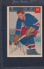 1954/55 Parkhurst #071 Wally Hergesheimer Rangers EX/MT *85
