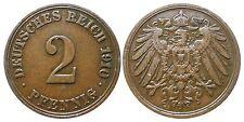 J 11   2 Pfennig Kaiserreich 1910 A in VZ  502862
