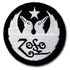 Zoso Led Zeppelin Patch Iron on Rock Band Logo Biker Heavy Metal Music Sew Badge
