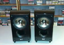 Pair KEF XQ10 speakers Type SP3564 black glossy bookshelf speakers NICE!