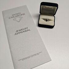 Vintage Antique Natural Alexandrite 14k White Gold Ring