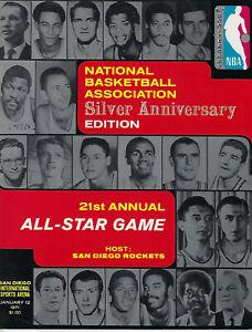 1971 NBA All-Star Game Program Oscar Alcindor Chamberlain Jerry West Near Mint