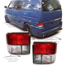 REAR TAIL LIGHTS CRISTAL RED-CLEAR FOR VW BUS T4 90-03 MULTIVAN TRANSPORTER