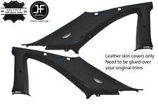 BLACK & BLACK 2X B C PILLAR LEATHER COVER FITS NISSAN SKYLINE GTS GTR R33 93-98