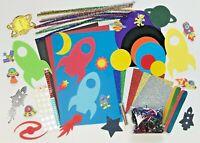 Childrens ART & CRAFT Space Set Kids Creative Crafting Supplies Activity Pack