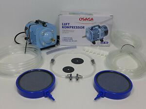 LK60 Teichbelüftung Teichbelüfter Sauerstoffpumpe Belüfter Kompressor Ausströmer