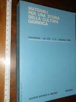 LIBRO:Materiali per una storia della cultura giuridica: 1986 SEMESTRALE VOL. XVI