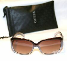 Authentic GUESS GU7245-BLBRN-34 Women's Sunglasses SNAKE SKIN BROWN BLUE NEW!