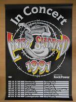LYNYRD SKYNYRD  1991 TOUR + orig. Concert Poster - Konzert Plakat  A1  NEU