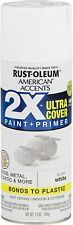Rust Oleum Spray Paint Primer American Accents Fast Drying Semi Gloss White 12oz