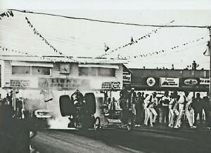 DON GARLITS HORRIBLE ACCIDENT AT LIONS 1970   NHRA  8X12 DRAG RACING PHOTO
