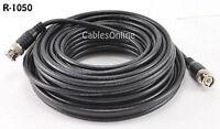 50ft. RG58 Coaxial Cable w/ BNC Male Connectors, Black