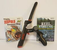 Wii Rapala Pro Bass Fishing Game & Rod. Bundle Tested