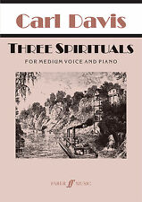 Three Spirituals Piano Keyboard Vocal Play Medium Voice SONGS FABER Music BOOK