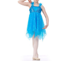 Adult Medium Turquoise Lyrical Dance Costume Ballet Dress Pretty Picture