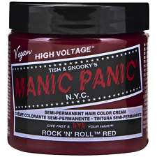 Manic Panic Semi-Permament Hair Color Creme, Rock N Roll Red 4 oz