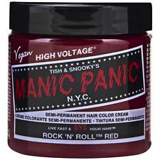 Manic Panic Semi-Permament Hair Color Creme, Rock N Roll Red 4 oz