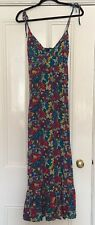 Top Shop Fab Floral Strappy Summer Maxi Dress Size 10