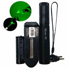 Military Green 1mW 532NM Laser Pointer Pen Lazer Beam+18650 Battery Charger UK