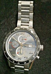 Tag Heuer Carrera CAL 1887 CAR2A11 SWISS MADE AUTOMATIC WATCH -NEEDS NEW BUTTON