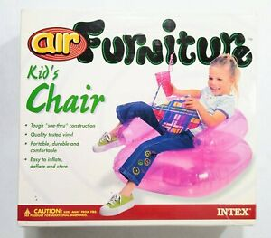 Vintage 1999 Intex Air Furniture Kids Chair Pink New