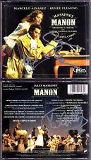 Renee FLEMING, Marcelo ALVAREZ, LOPEZ-COBOS Signed MASSENET: MANON Chaignaud 3CD