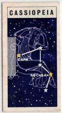 Cassiopeia Constellation Ptolemy Solar System Space Vintage Trade Card