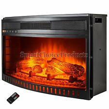 26 in. Freestanding Electric Fireplace Insert Heater Remote Control