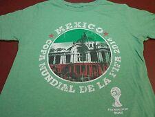 "MEXICO ""Copa Mundial De La Fifa""  2014 FIFA World Cup Brazil  T-Shirt Size S  Y5"