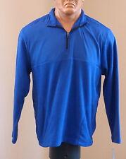 New! PGA Tour LS Men's Fleece Pullover Sweatshirt Blue Size XL $60