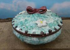 Vintage Handpainted Italian Lidded Ceramic Bowl