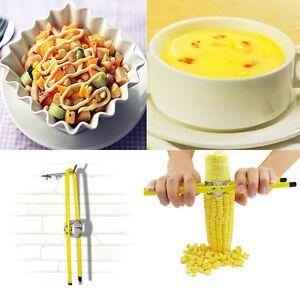 Household Corn Peeler Thresher Tool Kitchen Cob Kerneler Cutter Stripper Remover