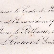 Marie De Béthune-Hesdigneul 1867 André De Couronnel