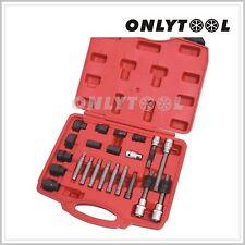 23pc Alternator Freewheel Pulley Removal Socket Set Hex 22mm Audi Tool