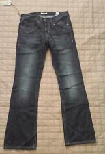 MEK Denim Men Jeans HARRISON Slim Boot Cut 33x34 Black