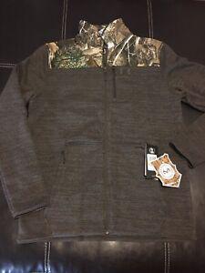 Under Armour Specialist 2.0 FullZip Real Tree Camo Brown Fleece Men's Size M $90