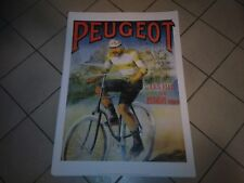 Affiche poster 50cm par 70cm Peugeot frère vélo Banania chocolat éditions Clouet