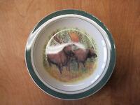 "Cabelas Folkcraft WOODLAND MOOSE Dinner Plate 11"" 1 ea   5 available"