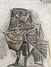 PICASSO - THE GREAT OWL - ORIGINAL LITHOGRAPH - 1954 -  FREE SHIPPING IN THE US