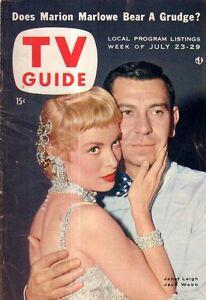 1955 TV Guide July 23 - Jack Webb;Weather girls;Jean Hagen;$64000;Marion Marlowe