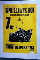 James Cauty super squawk 9000, signed a/p screen print 2/13 with provenance.