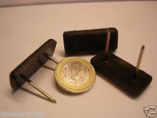 50 Stück Nagelgleiter Möbelgleiter Möbelfüße Kunststoff schwarz 35x15x5 mm  NEU