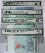 (PL) RM 1/5/50 AB/AC 3333337 PMG 64-67 EPQ SAME PREFIX NUMBER ALMOST SOLID 3