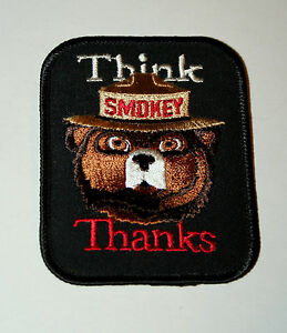 Vtg 70s Smokey The Bear Prevent Forest Fires Think Thanks Dept Ag Patch New NOS