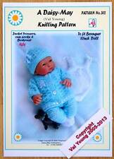 "DAISY-MAY DOLLS KNITTING PATTERN FOR  BERENGUER 10"" DOLL No 302"