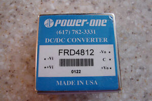 Power-one DC/DC Converter model #FRD4812 Output 12vdc, .25A